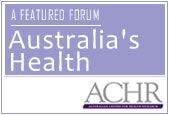 Australia's Health discussion forum
