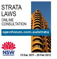 Strata Laws consultation logo