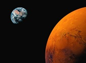 Earth and Mars (Getty Images)
